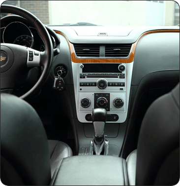 interior of suv