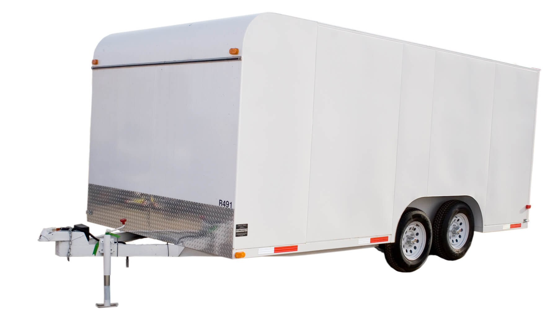 single enclosed trailer